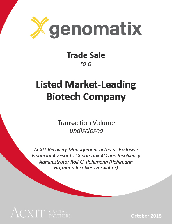 Münchner Biotech-Unternehmen Genomatix AG an börsennotierten Weltmarktführer veräußert